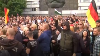 In Germany, Nazis march, anti-fascists 'stand-up' against them