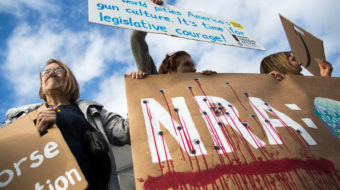 Students bring gun control rally to NRA's doorstep