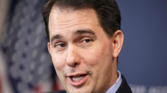 Laughter and apprehension as Wisconsin's Walker seeks third term