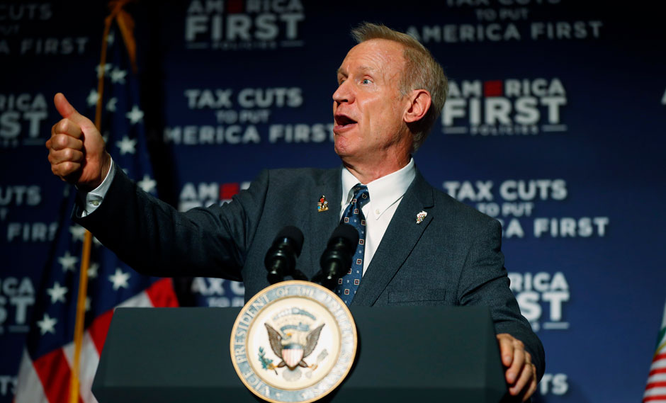 "GOP degrades women and workers, Illinois Gov. Rauner says ""Me too"""