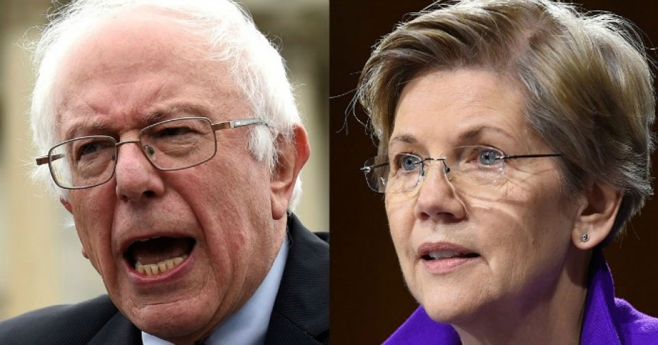 Sanders and Warren take aim at abuses by U.S. corporations