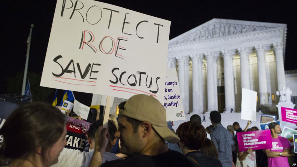 Anti-Kavanaugh protesters say he'd push High Court farther to the right