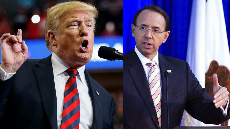 Rosenstein to see Trump on Thursday – a Comey rerun?