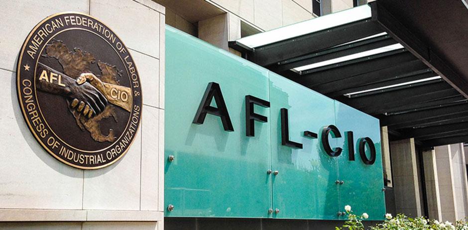 AFL-CIO support staffers walk informational picket line