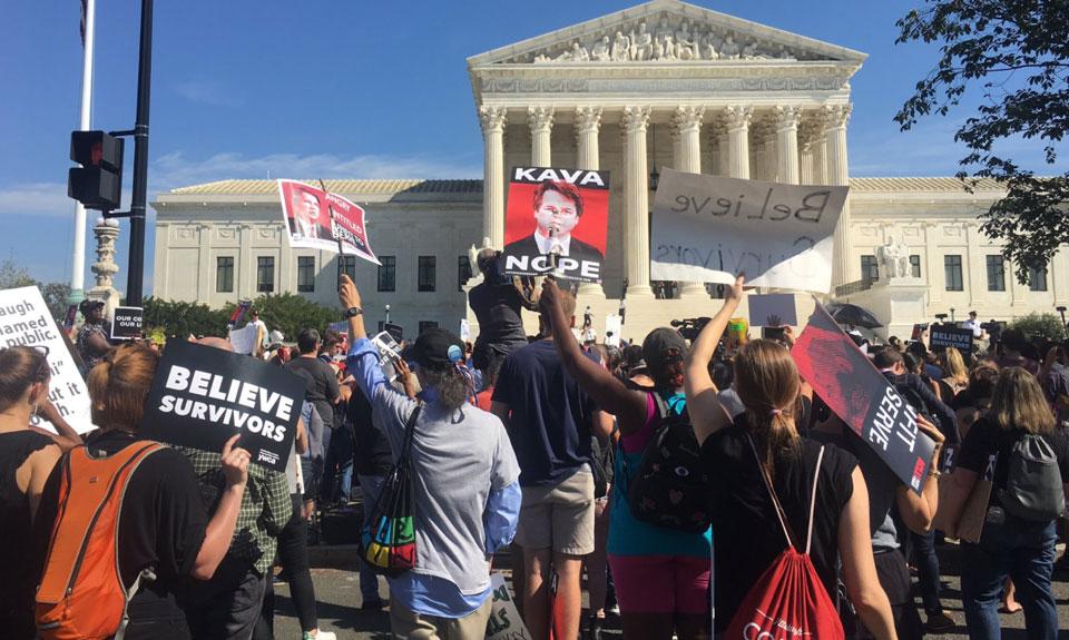 Despite sham FBI report and protests, Senate rushes to confirm Kavanaugh