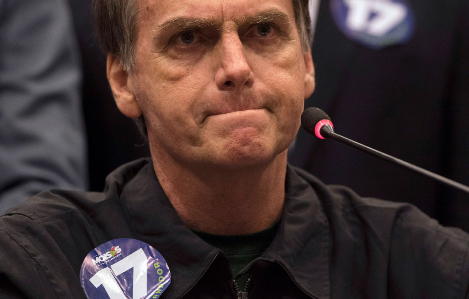 Brazil's Bolsonaro promises to purge the left if elected