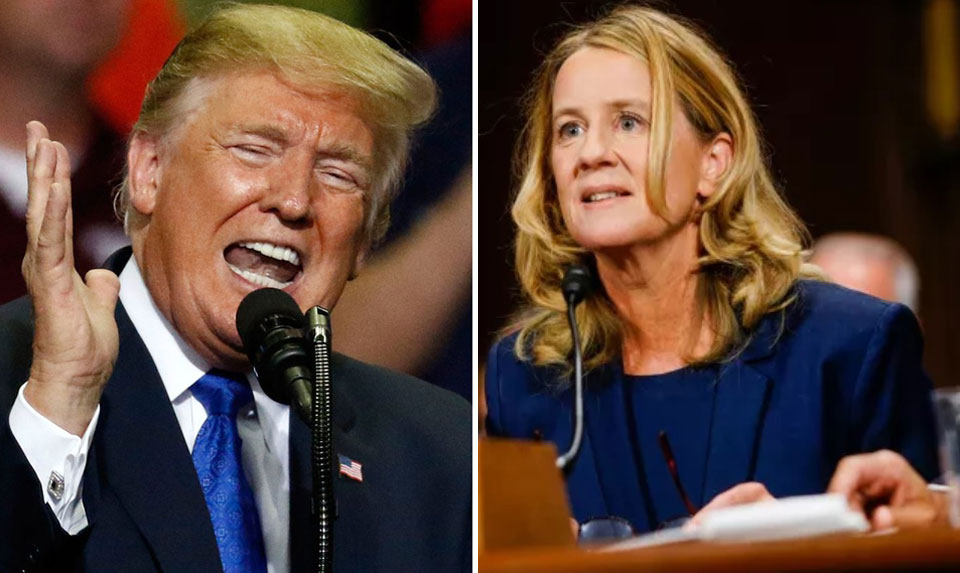 Despite Kavanaugh's lies and witness tampering, Trump attacks Ford