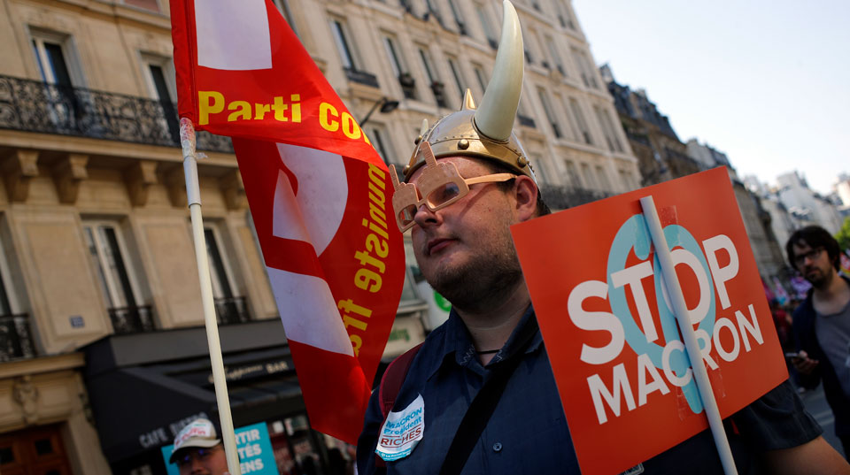 Macron is slipping, but French Communists divided over way forward