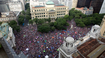 """Massive """"Not Him"""" demonstrations in Brazil a week before elections"""