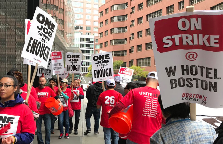 Marriott hotel workers walk off the job across the nation