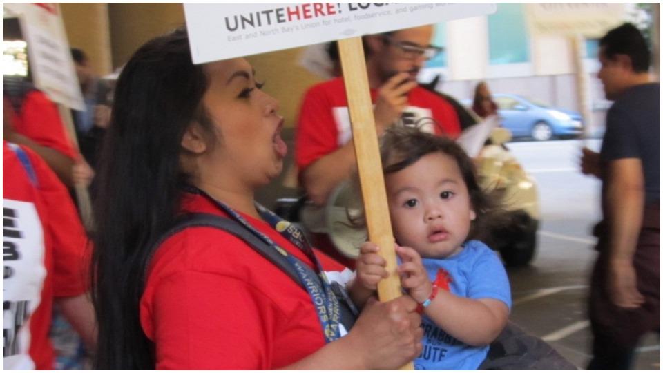 Oakland Marriott workers join strike spreading across U.S.