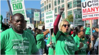 Striking Univ. of California patient care workers rally with supporters across the state