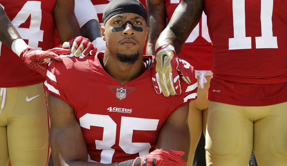 NFL player Eric Reid says fight against racial injustice won't stop