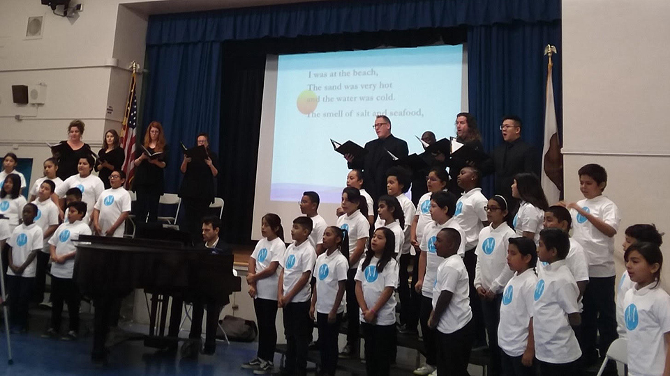 Fifth graders compose and perform poignant songs about math and science