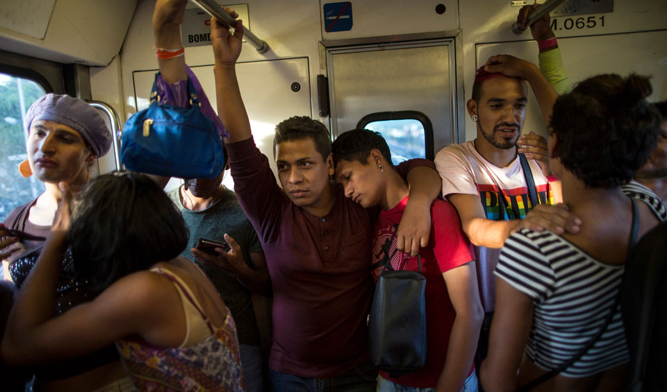 LGBTQ asylum-seekers first from refugee caravan to reach border