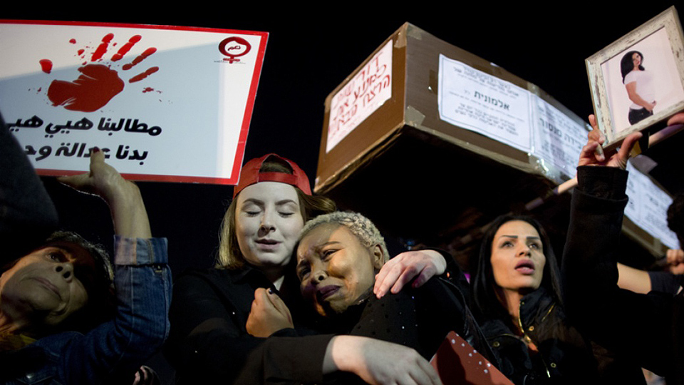 Women hold general strike over increased violence in Israel