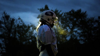 Students born female tackle gender on football teams
