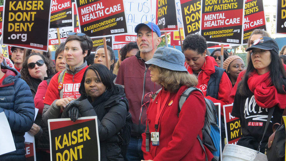 Kaiser Permanente mental health clinicians strike for better patient care