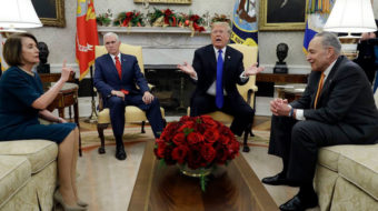 Trump temper tantrum risks government shutdown, 600K jobs, raises for 2M