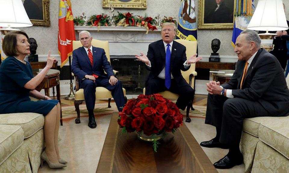 Trump temper tantrum risks government shutdown, 600K jobs, raises for 2M