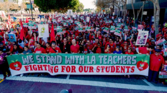 Overcrowded classrooms, privatization schemes force LA teachers to strike