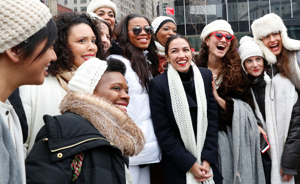 "Ocasio-Cortez at NYC Women's March: ""Translate power into policy"""