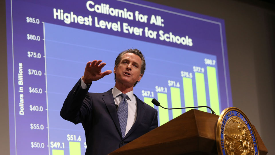 "New governor's ""California for All"" budget centered on education and health"