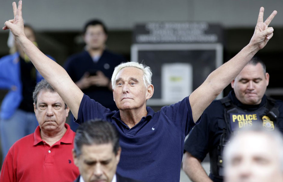 Roger Stone: The 34th indicted or guilty Trump associate