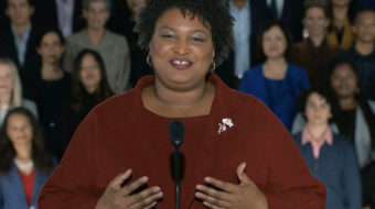 Donald Trump's speech goes low, Stacey Abrams's response goes high