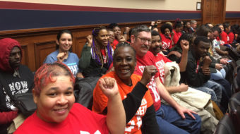 Workers, AFL-CIO, Democrats open legislative push for $15 minimum wage