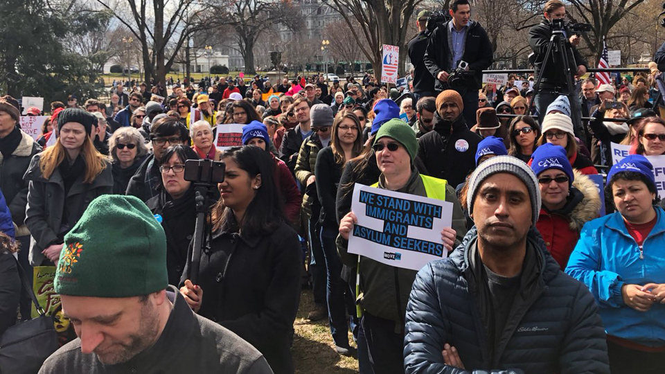 Anti-wall activist, Christina Jiminez, links Trump's racism to anti-unionism