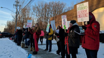 Union begins Ohio's first charter school strike