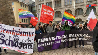 Huge youth turnout for International Women's Day in Berlin