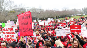 Oregon teachers, parents, students walk out to demand more school dollars