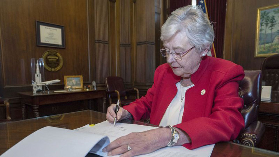 Alabama governor says God backs the attack on women's rights