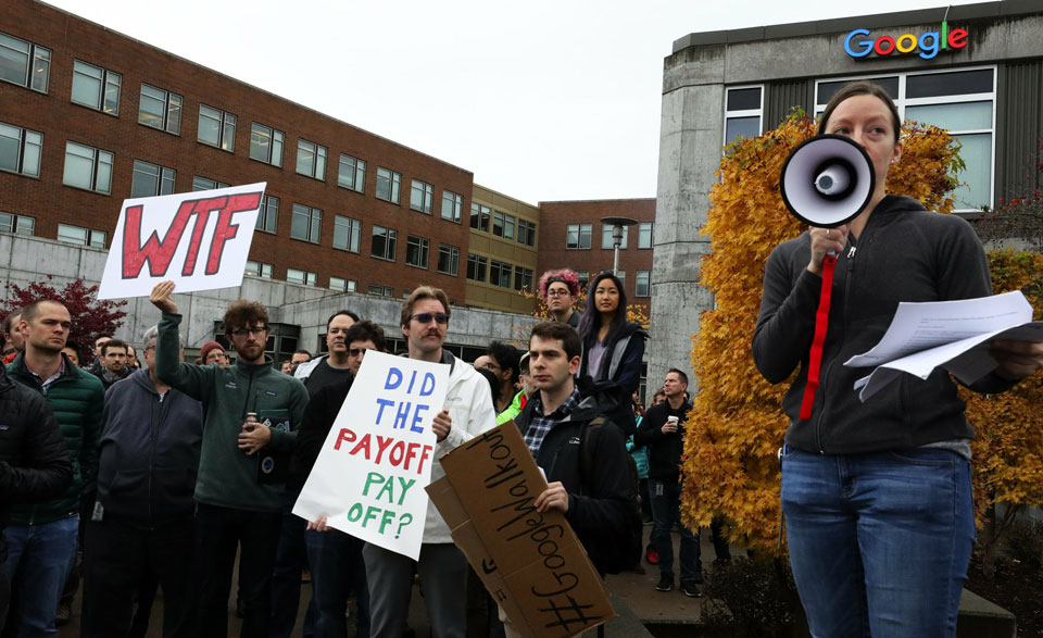 Workers answer Google retaliation with May Day sit-ins