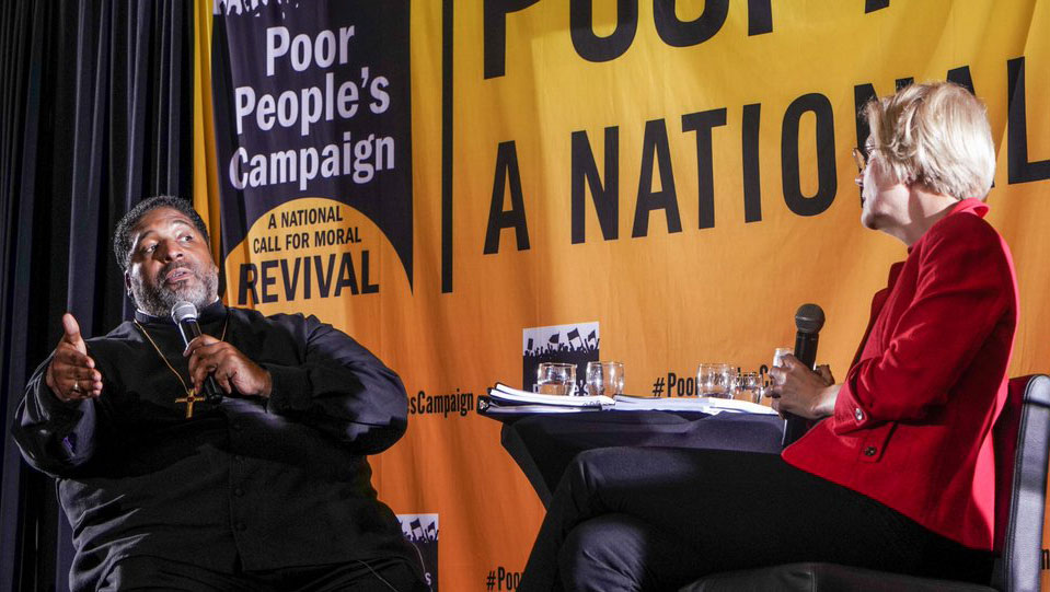 Democratic hopefuls roll out anti-poverty plans at Poor People's Campaign