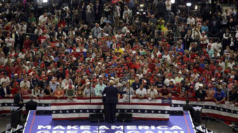 Trump blasts free press, political opponents at his campaign kick-off