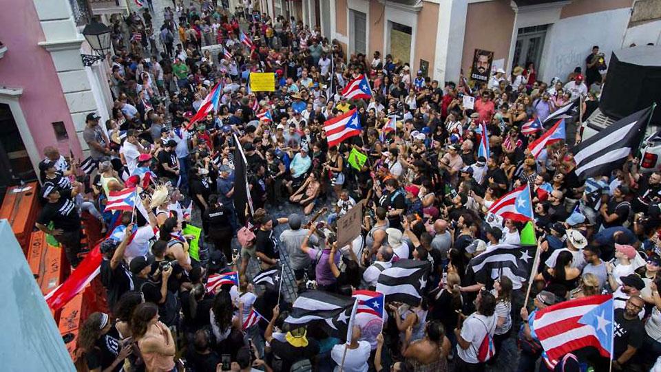 Puerto Rico: Una gran protesta contra el gobernador