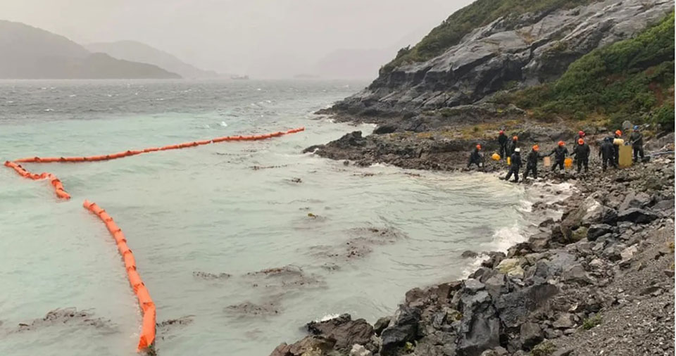 Mining company spills 10,000 gallons of oil into Chile's Patagonia