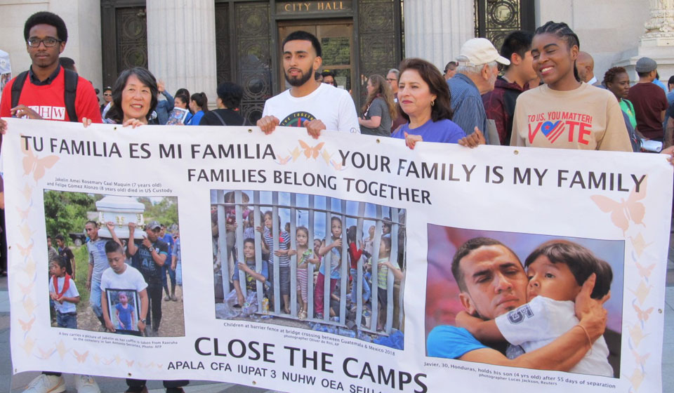 Oaklanders condemn Trump immigration policies, demand respect and humane treatment