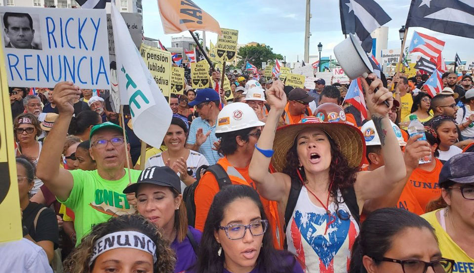 Massive demonstrations demand resignation of Puerto Rico governor