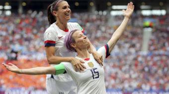 World champion U.S. women's soccer team demands women's and LGBTQ equality