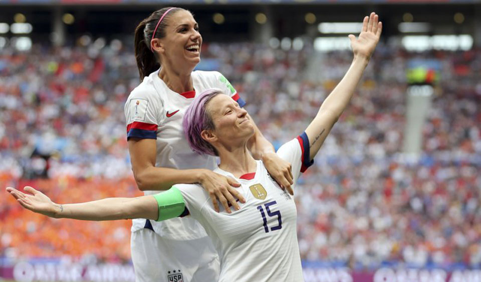 World champion U.S. women's soccer team demands women's and LGBTQ equality