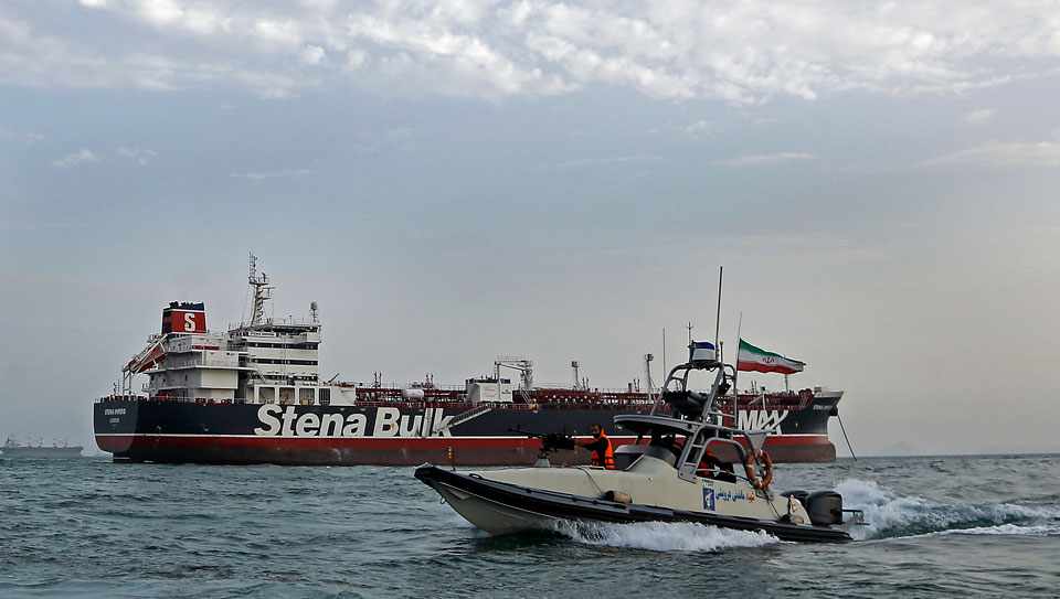 Iran says Britain acts at U.S. behest in ship seizure standoff
