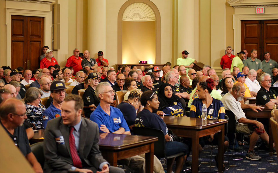 At hearing packed with workers, House panel OKs multi-employer pensions rescue bill