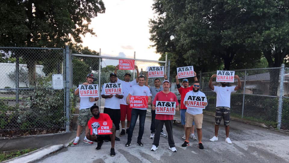 CWA: 20,000 forced to strike due to AT&T refusal to bargain