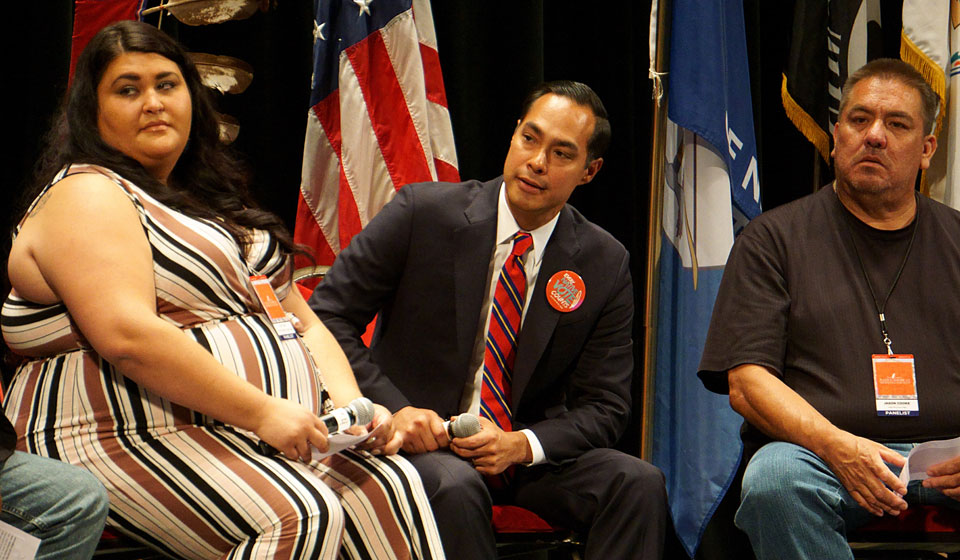 Castro showcases specific indigenous policies at Native forum, but Delaney stumbles