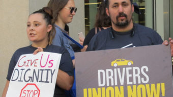 Uber and Lyft drivers demand their rights as employees