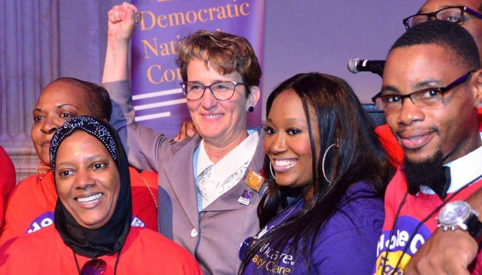 Sanders and SEIU's Mary Kay Henry announce plans to revive unions